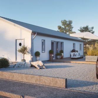 1-planhus med sadeltak – Mellby hus