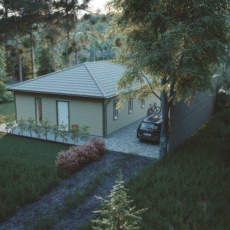 Fritidshus med valmat tak – Mellby Hus