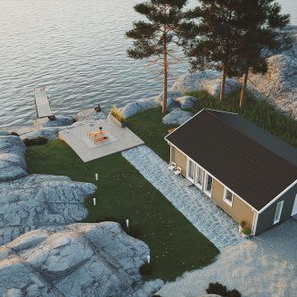 Fritidshus med sadeltak – Mellby Hus